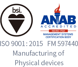 ISO 9001:2015 FM 597440 Manufacturing of Physical devices